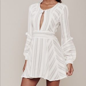 For Love and Lemons Alessandra Pom-Pom Dress S